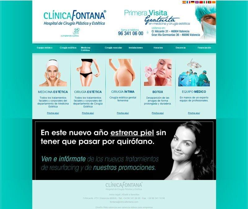 Página Clinica Fontana