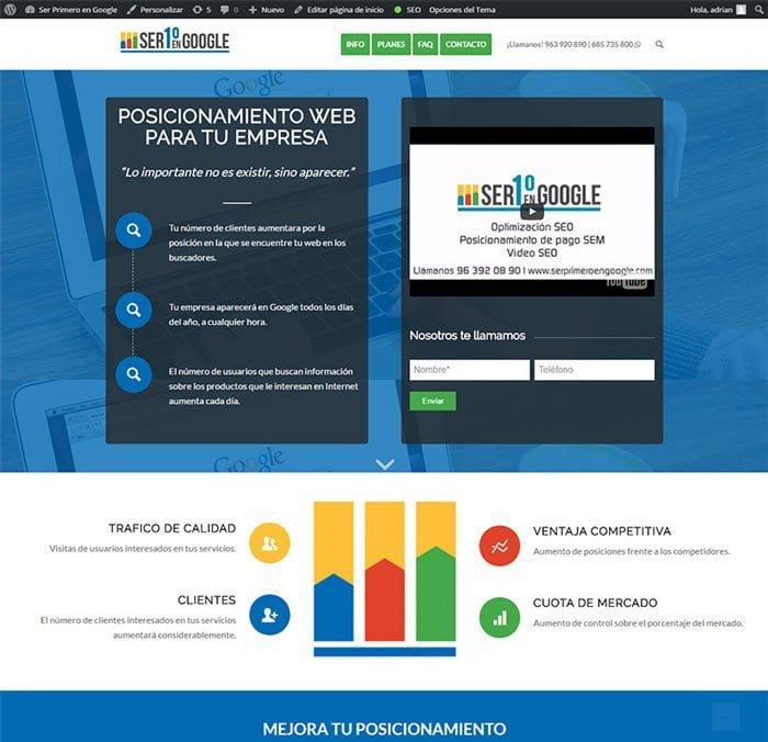 Ser Primero en Google es una marca, dentro de Aeuroweb, que está dedicada al posicionamiento web. Afincada en Valencia