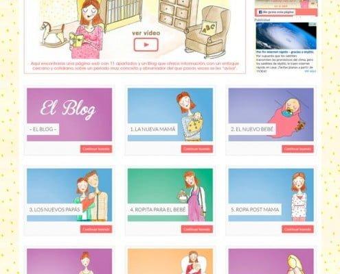 El Primer mes página dirigida a las madres primerizas donde encontrarás trucos y consejos.