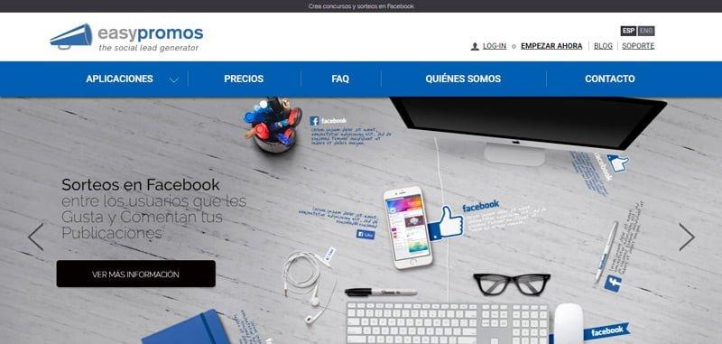 Pagina principal Easypromos
