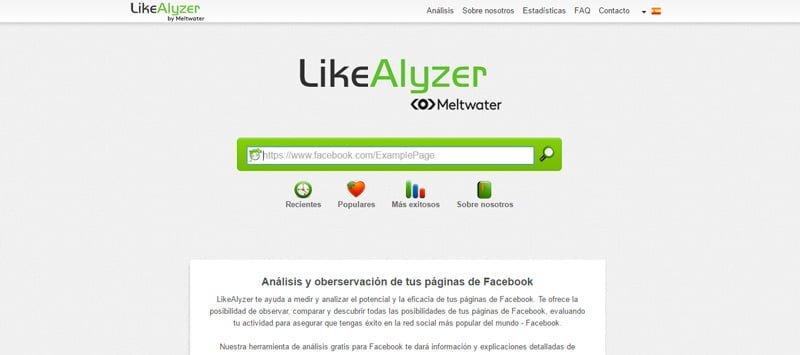 Pagina principal Likealyzer
