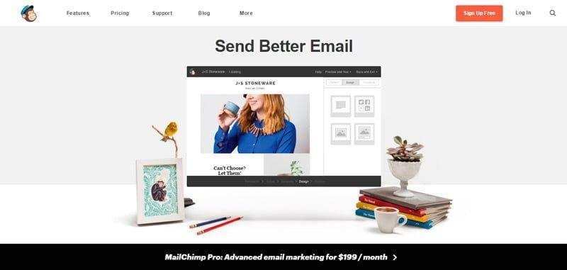 Pagina principal Mailchimp