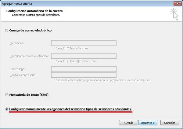 outlook 2010 configuracion manual