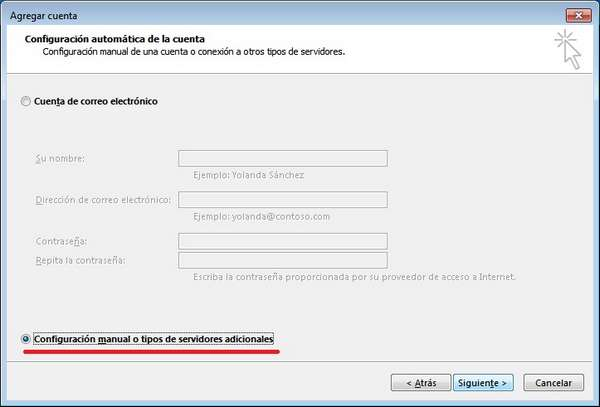 outlook 2013 configuracion manual