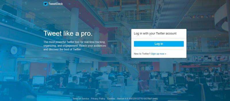Pagina principal Tweetdeck