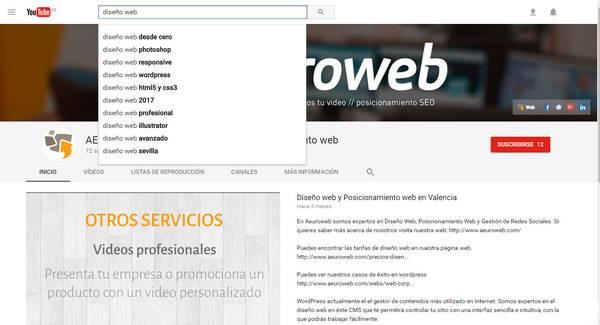 youtube búsqueda