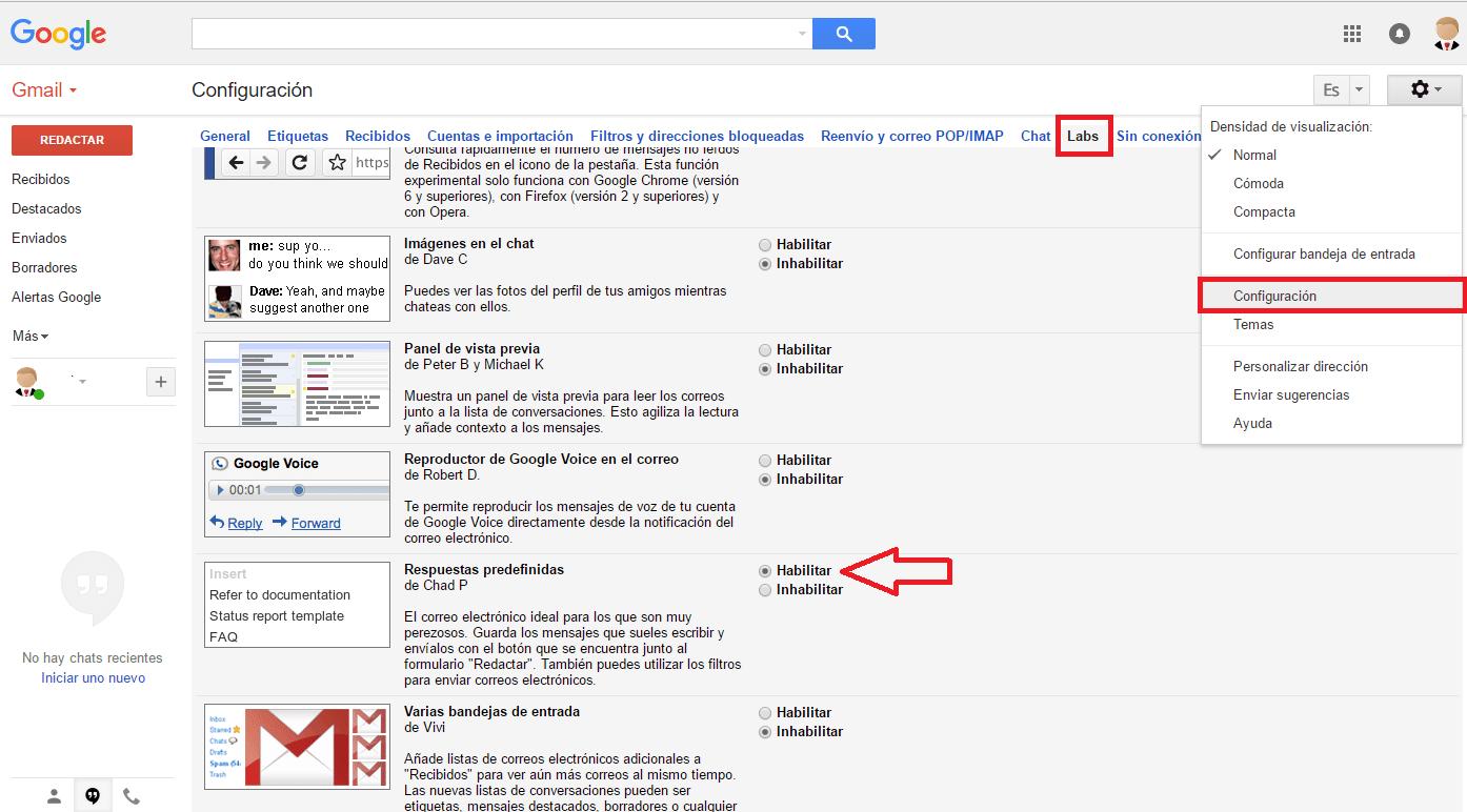 crear plantillas gmail