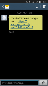 sms ubicación