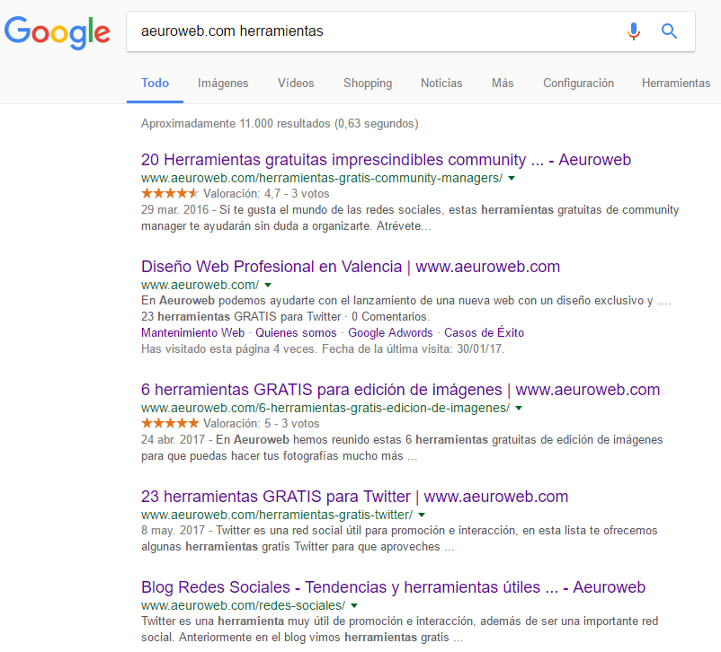 búsqueda en url