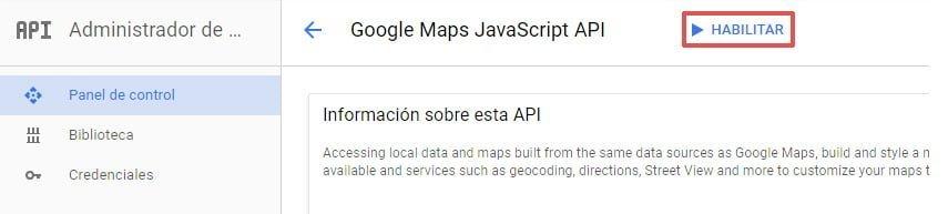 Habilitar API