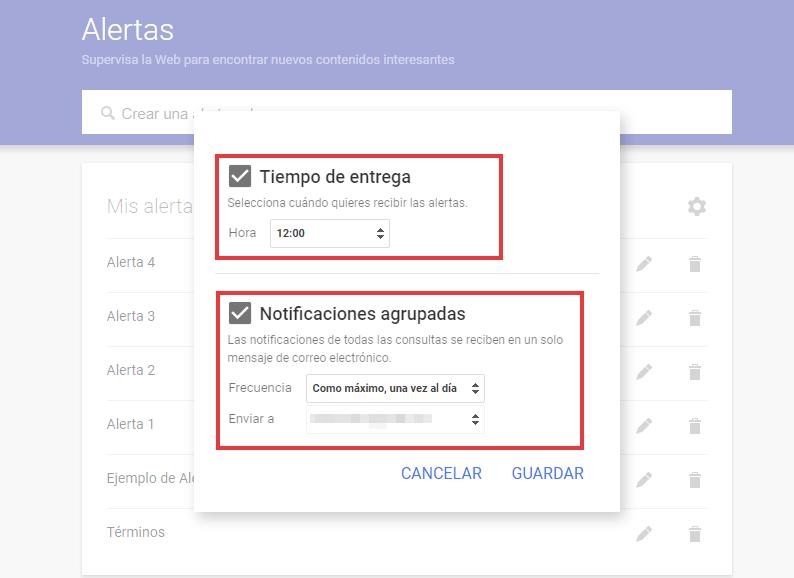Configurar Google Alerts