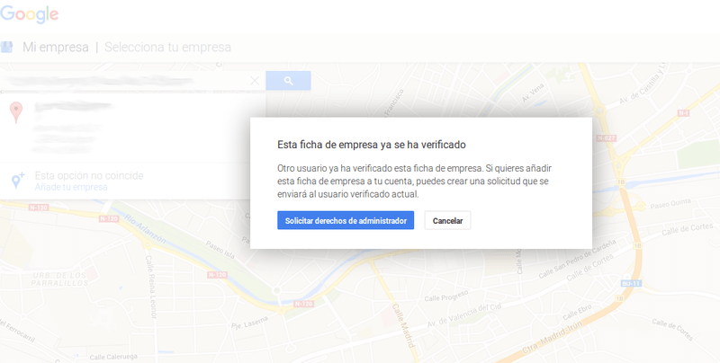 google my business solicitar acceso