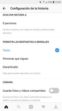 Privacidad Instagram Stories