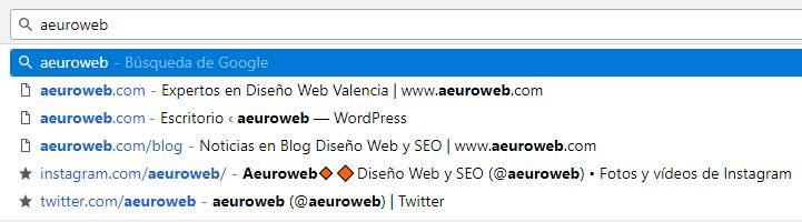 historial búsqueda
