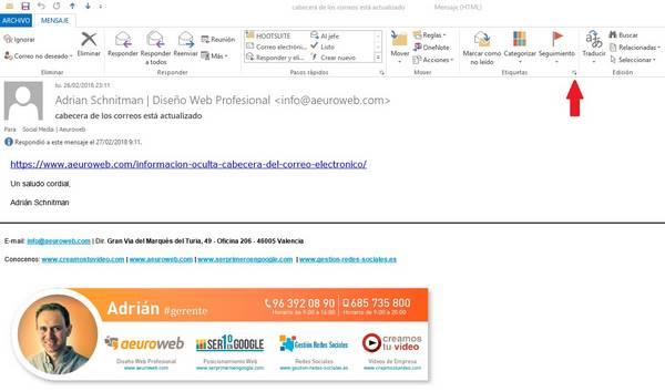 correo original Outlook 2013
