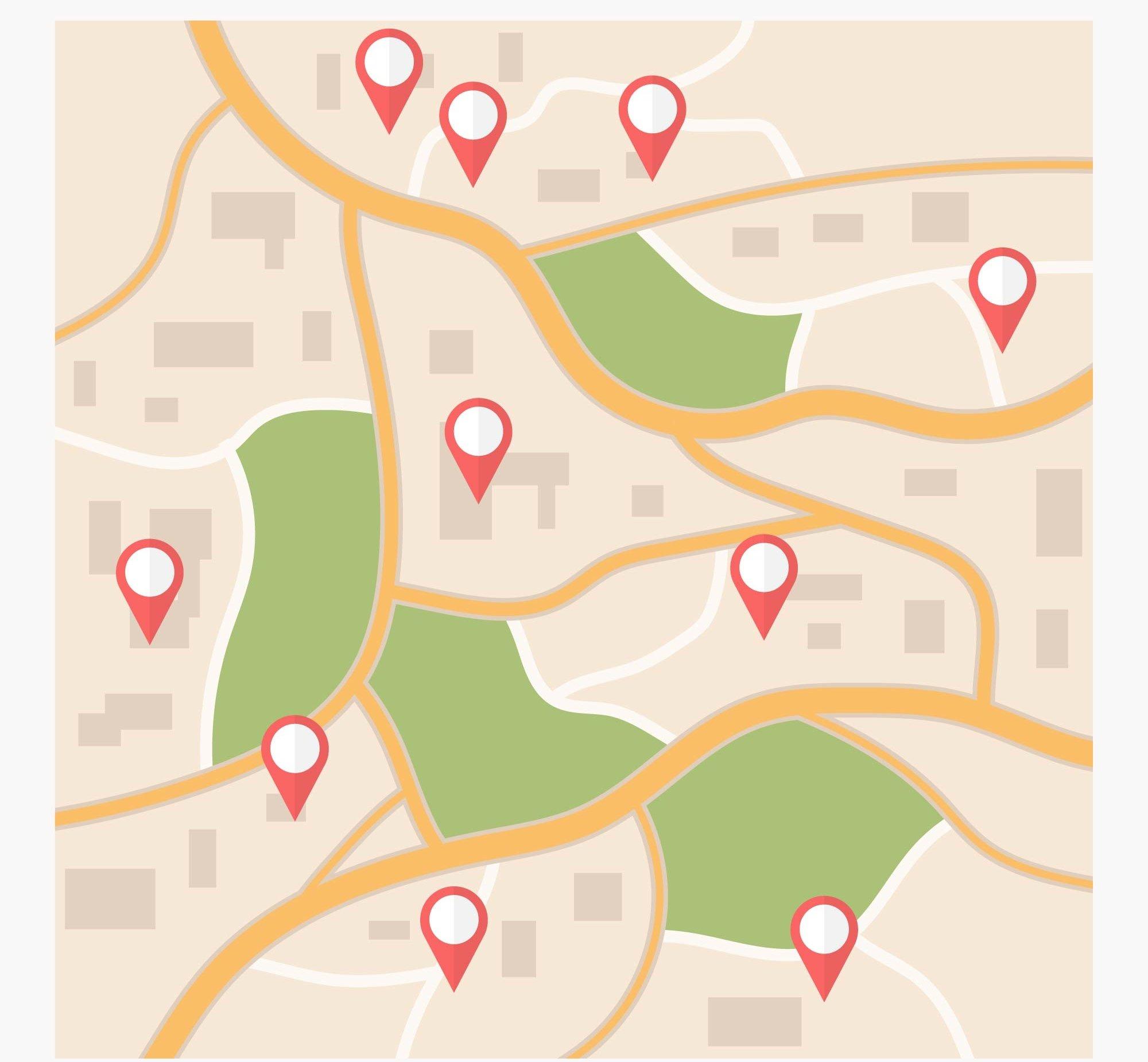 ubicaciones en google maps de negocios locales