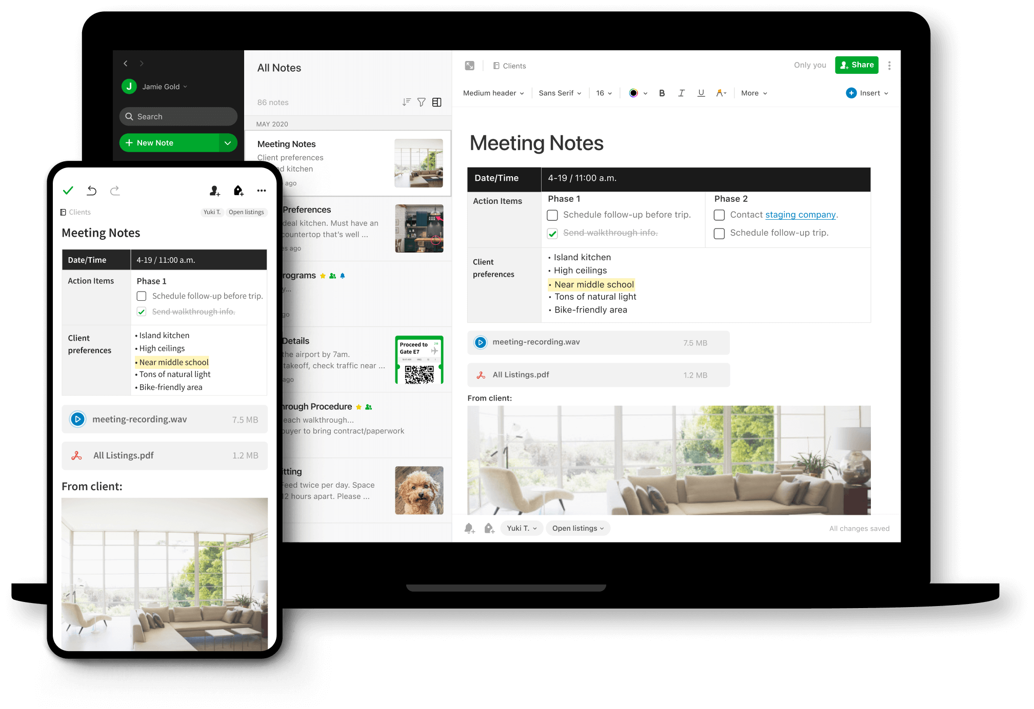 captura dispositivos con evernote