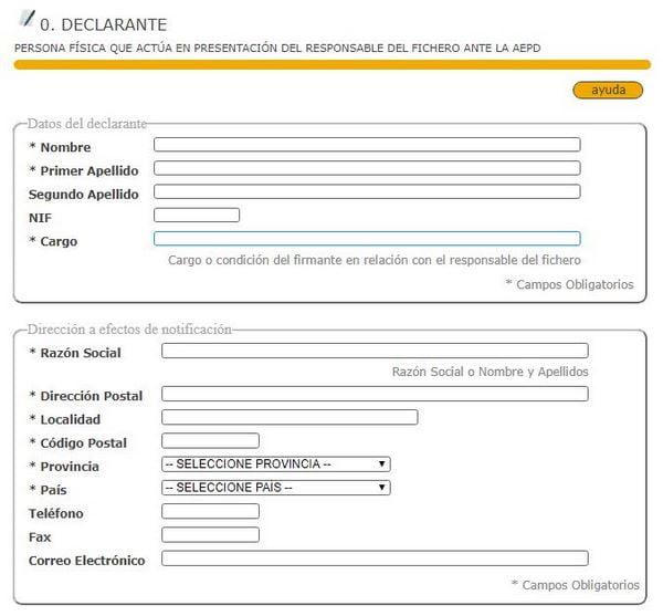 formulario declarante