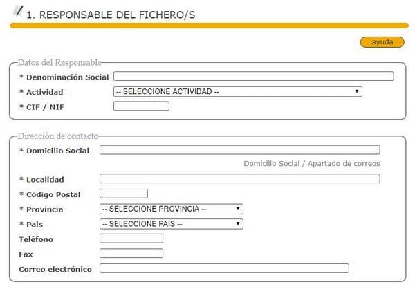 formulario responsable fichero