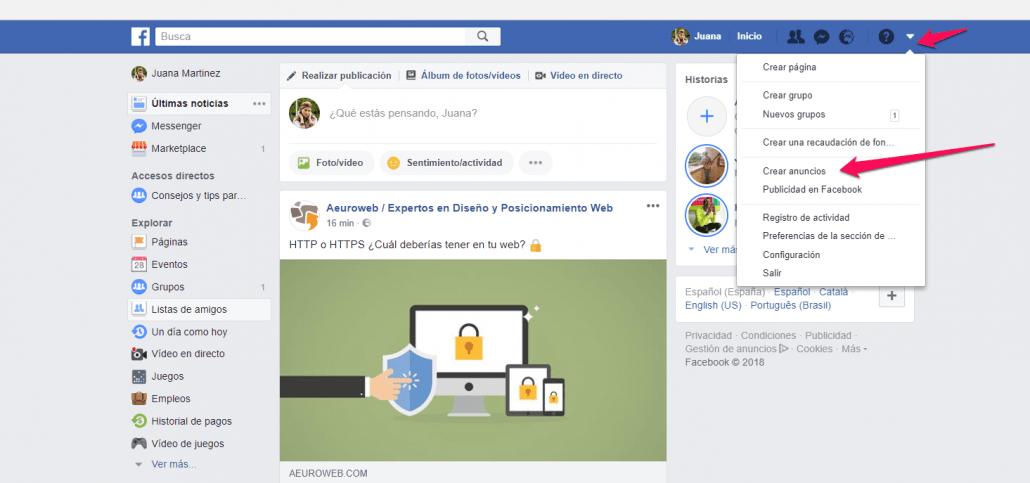 crear anuncios facebook