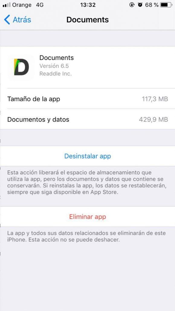 eliminar app