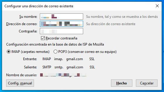 servidor pop imap