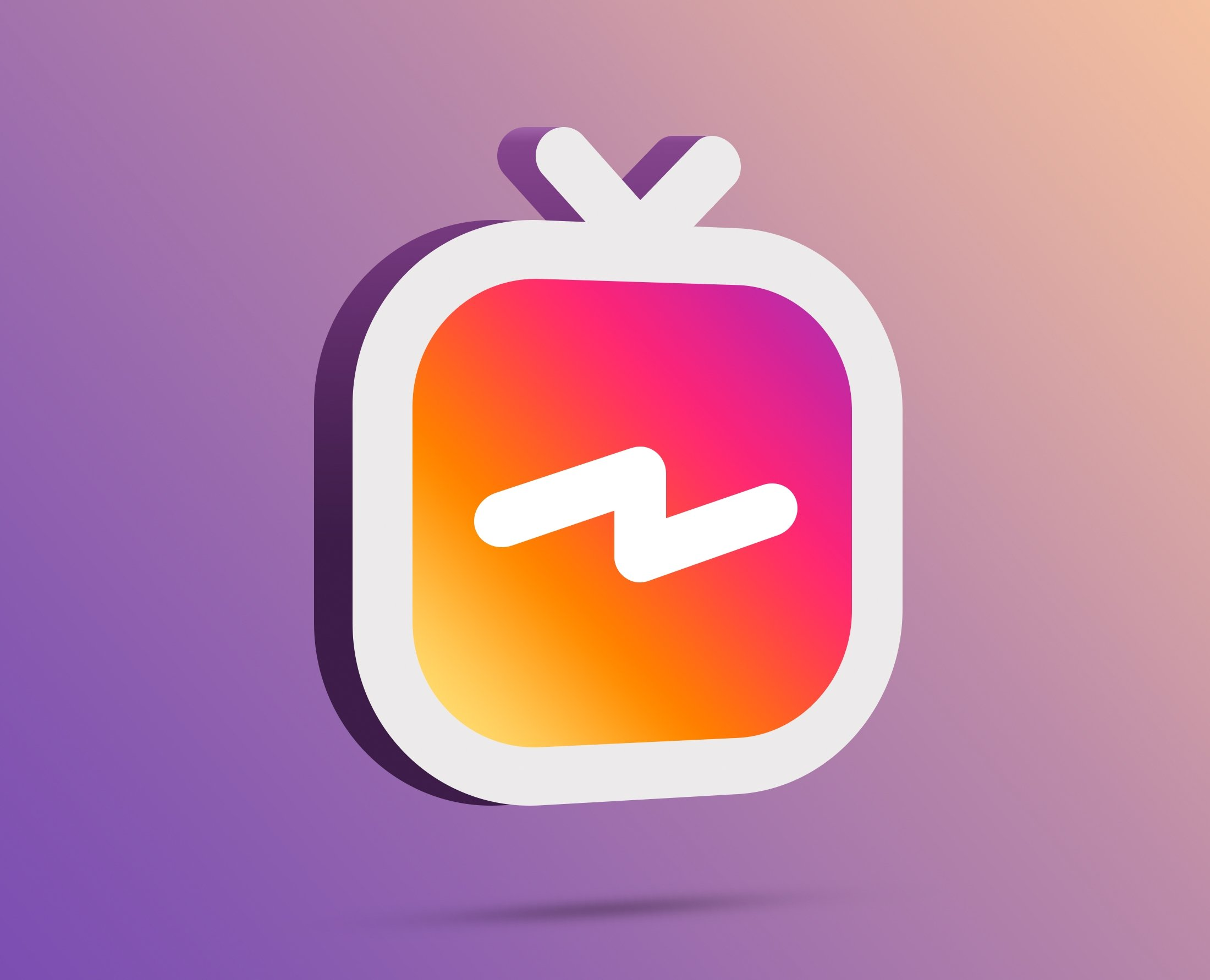 logo instagram tv en 3 dimensiones