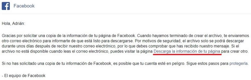 email facebook
