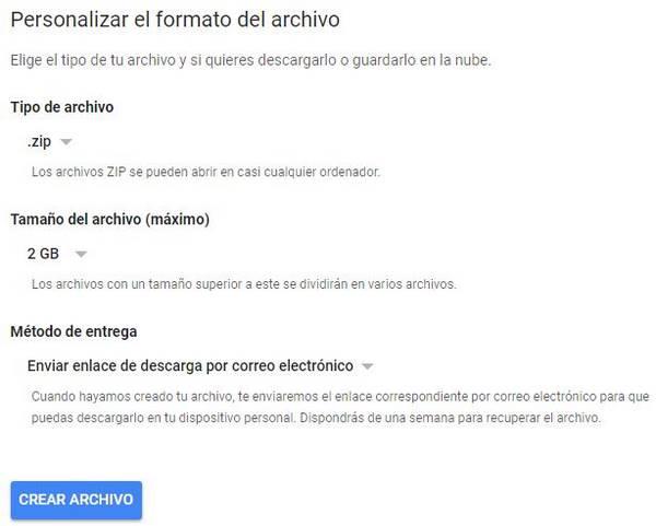formato archivo datos google+