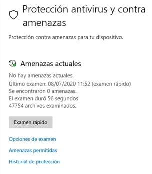 examinar malware pc