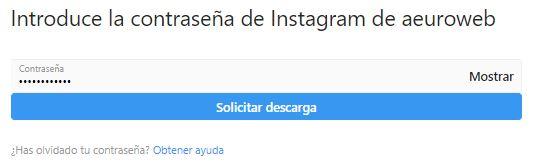 introducir contraseña instagram