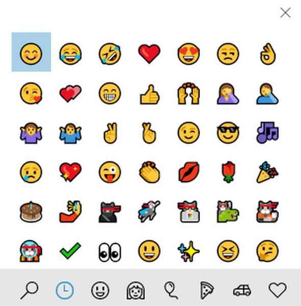 Añadir emojis en Microsoft