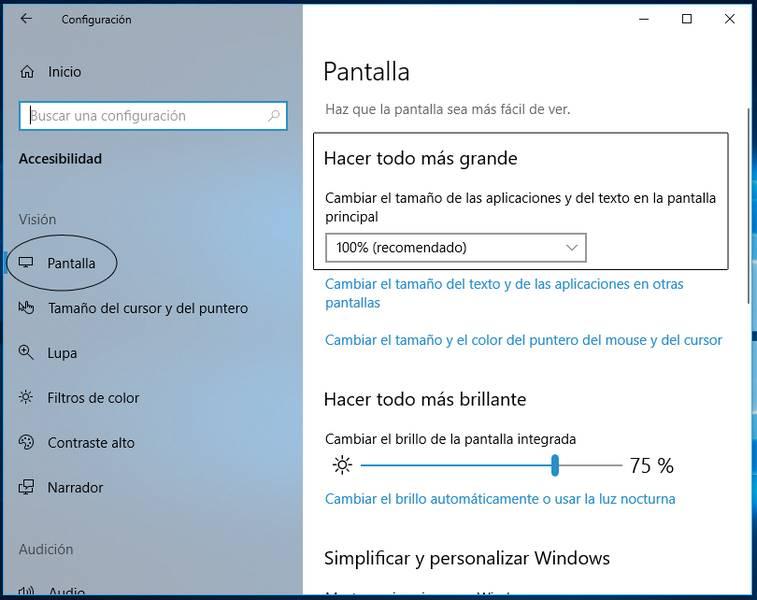 Personalizar pantalla en Windows