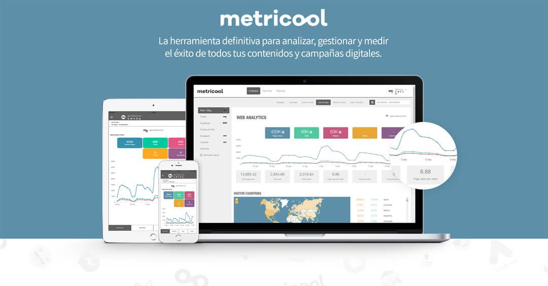 captura de pantalla metricool