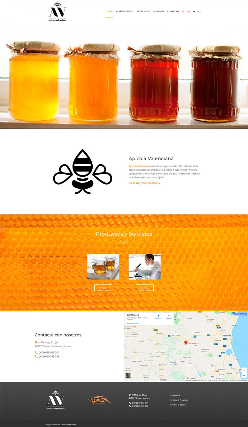 diseño web apicola