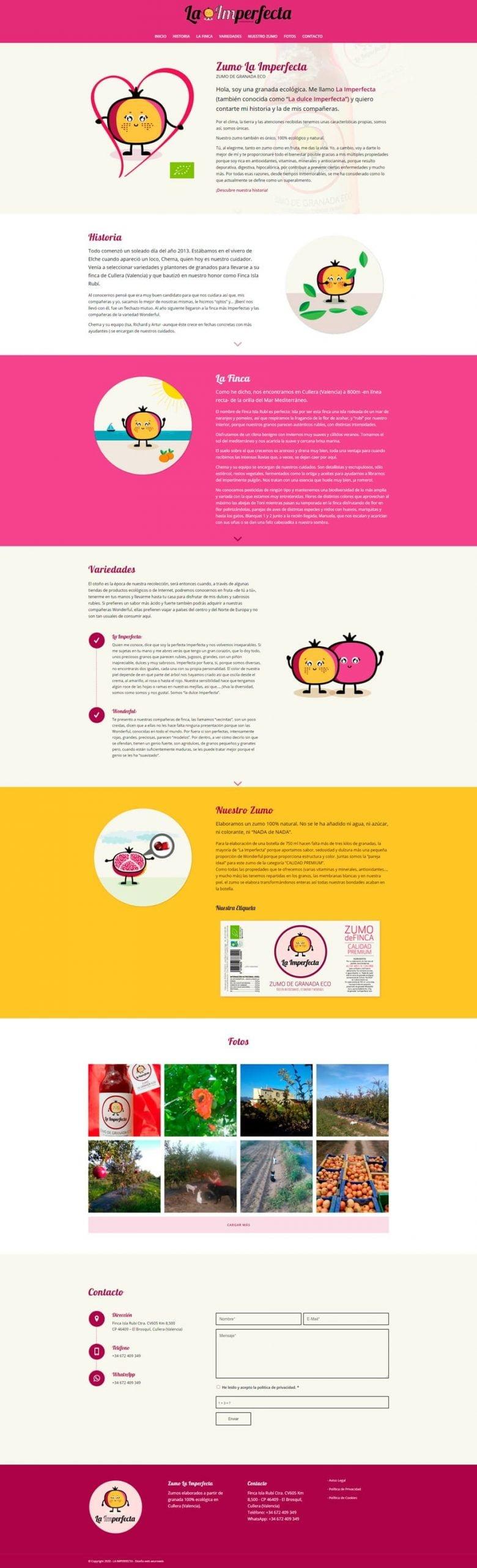 diseño web la imperfecta