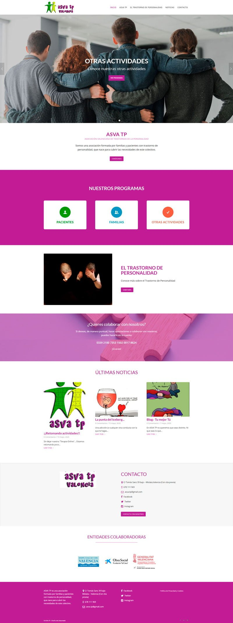 diseño web asva tp
