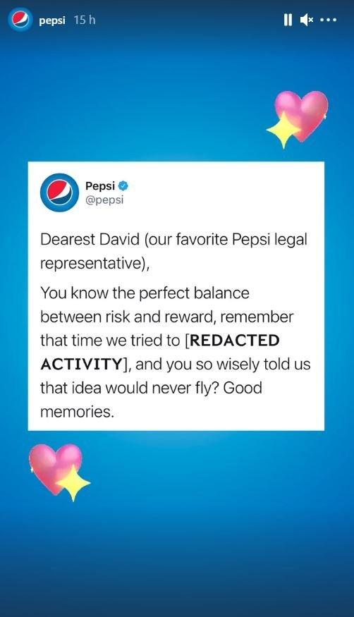 Story de Pepsi sobre el dia de San Valentín.