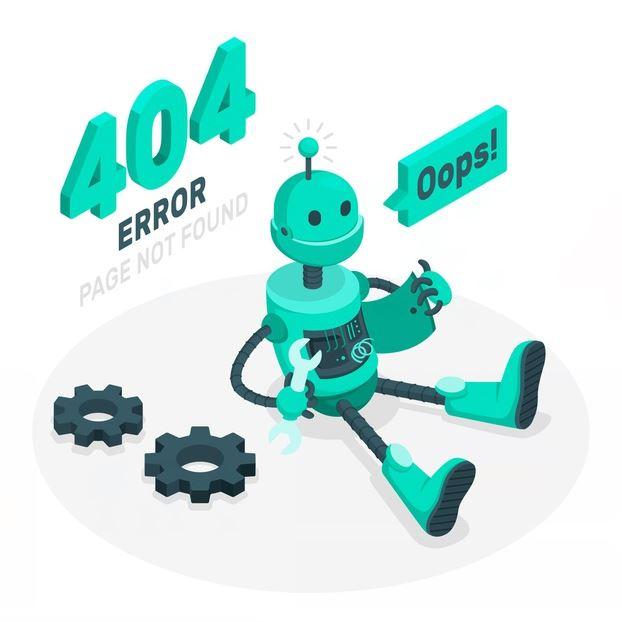 Infografía sobre el error 4040 que informa de un problema en la web