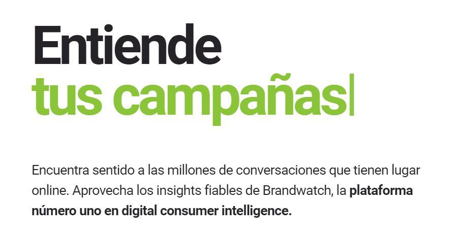 Interfaz de Brandwatch
