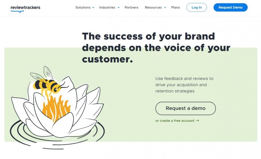 Interfaz de Review Trackers, una de las herramientas de escucha activa