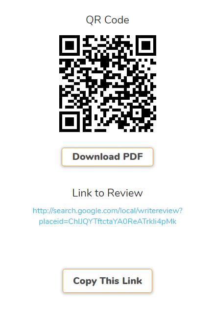 Código QR que genera Supple para reseñas