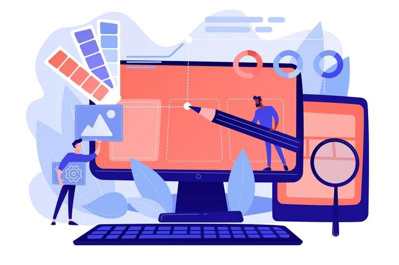 Ilustración diseño web wordpress