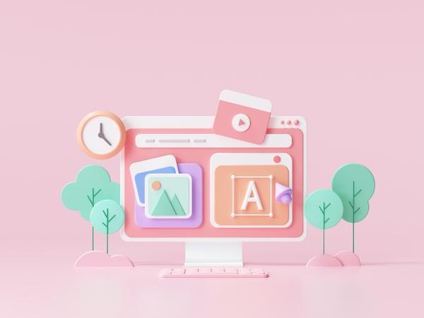 Render 3D diseño web para referirnos a diseño web precios